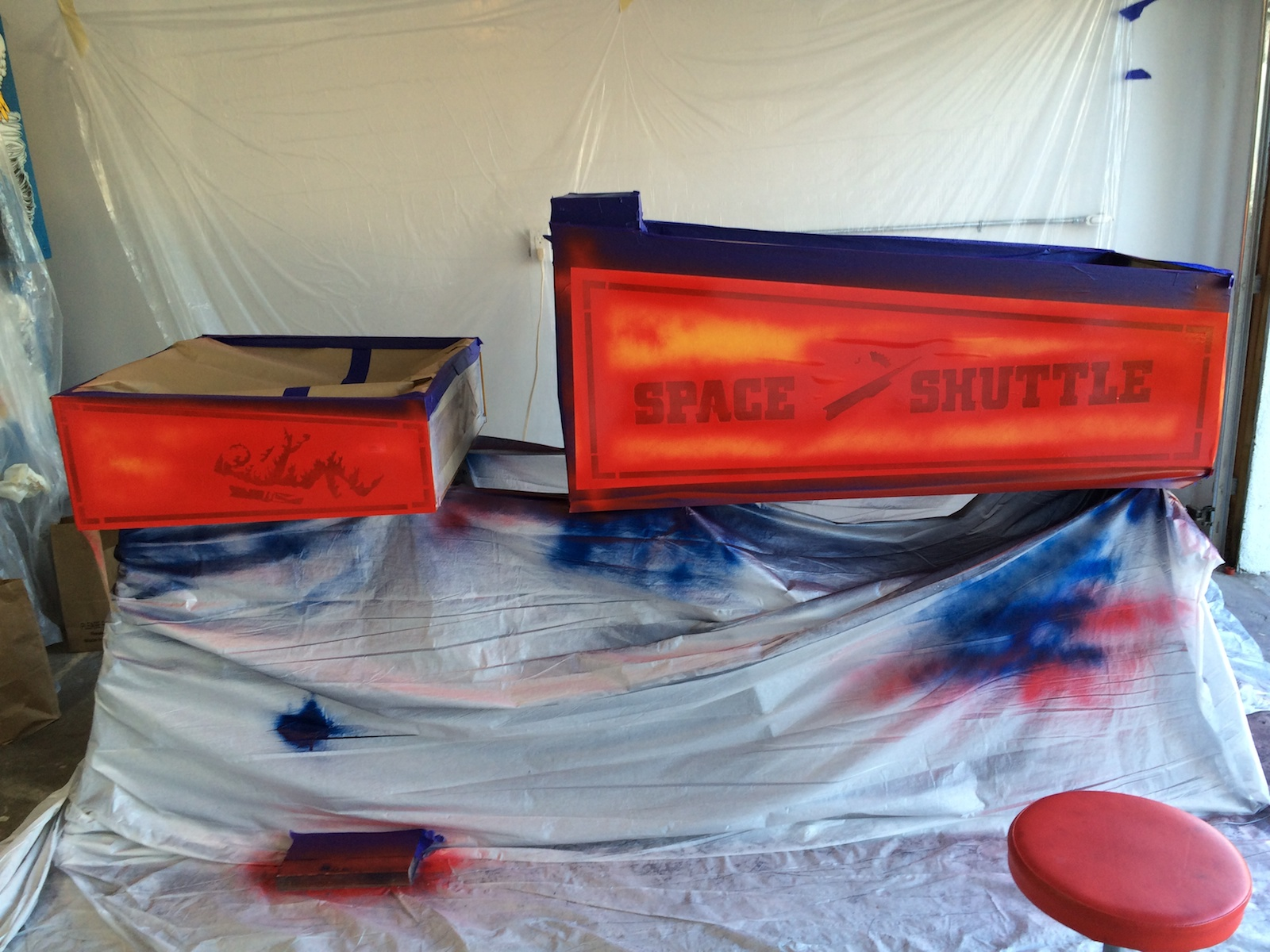 Painted Red Color on Space Shuttle Pinball Cabinet | Alpha ...