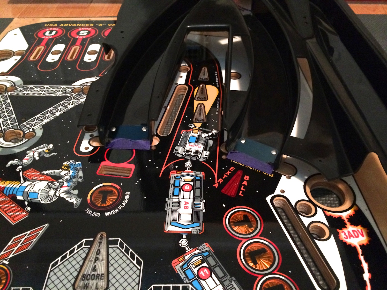 Modified New Space Shuttle Pinball Playfield for Repro ...