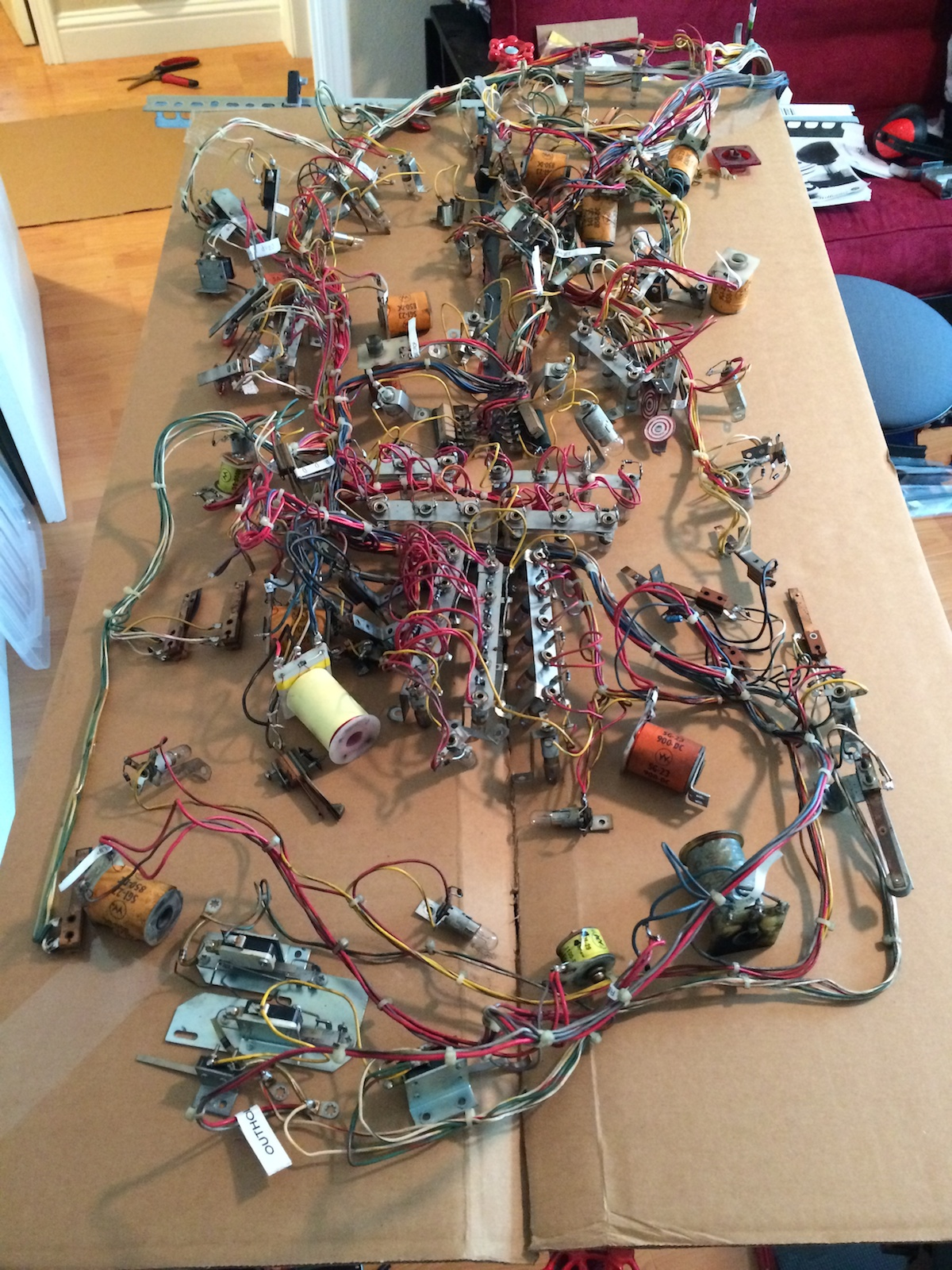 transferredwiringharness 4 transferred space shuttle pinball wiring harness from old to new