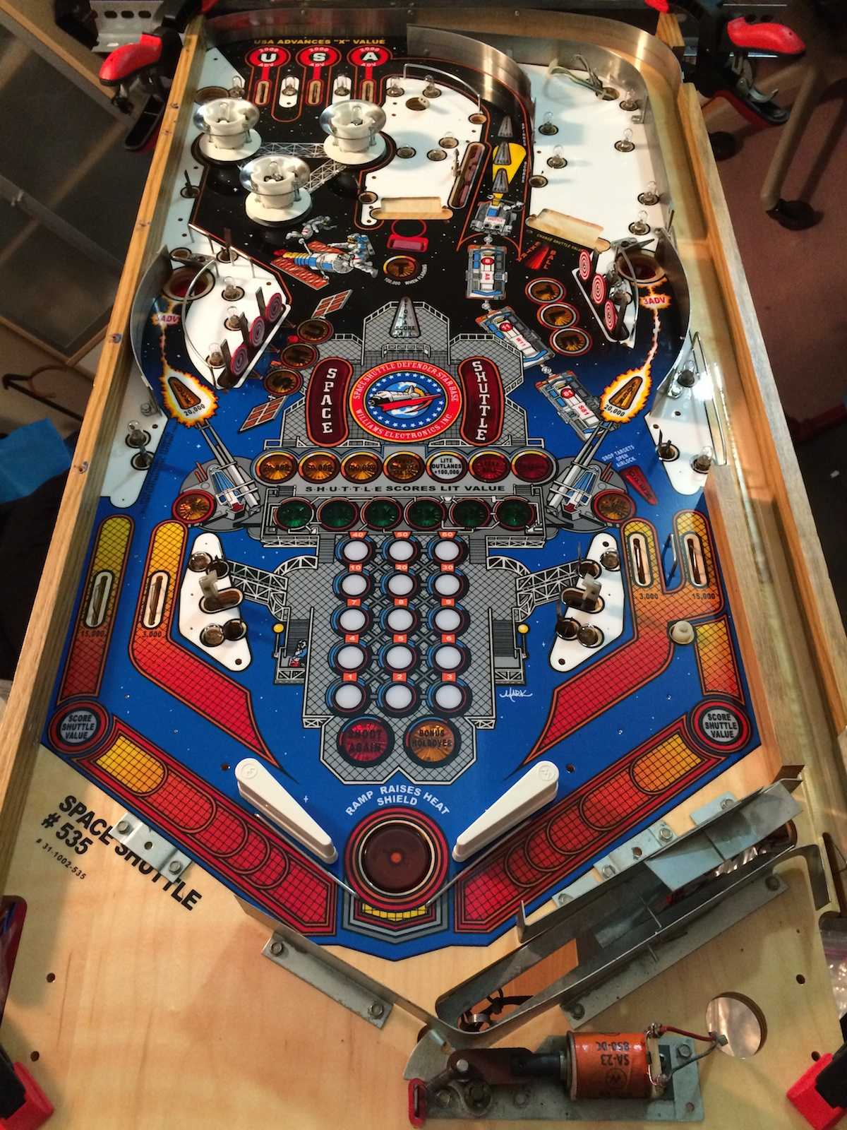 Space Shuttle Pinball Playfield (page 3) - Pics about space